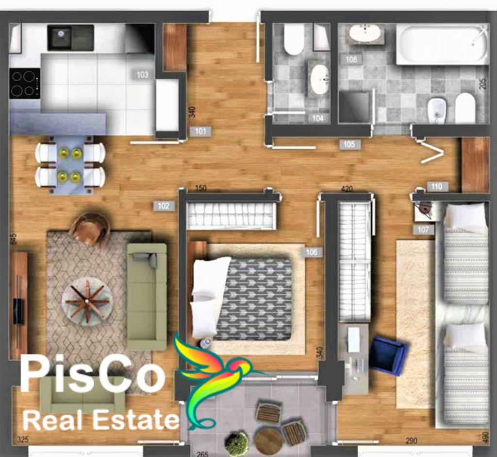 Two bedroom apartment 72m2 | Apartments in a new building