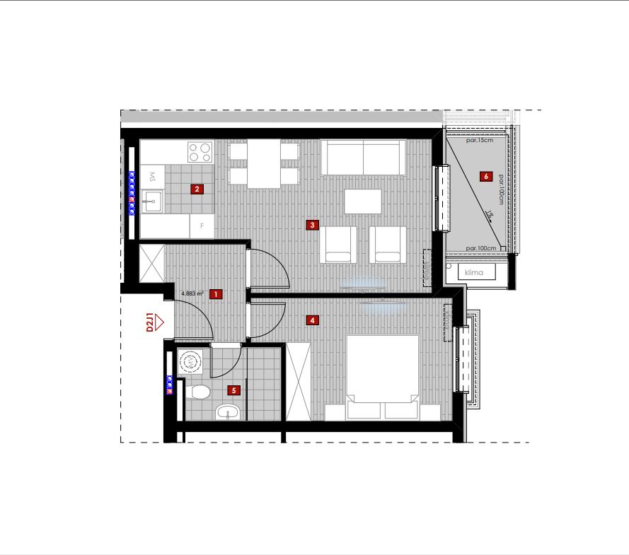 FOR SALE One bedroom apartment under construction under Ljubović Hill Podgorica
