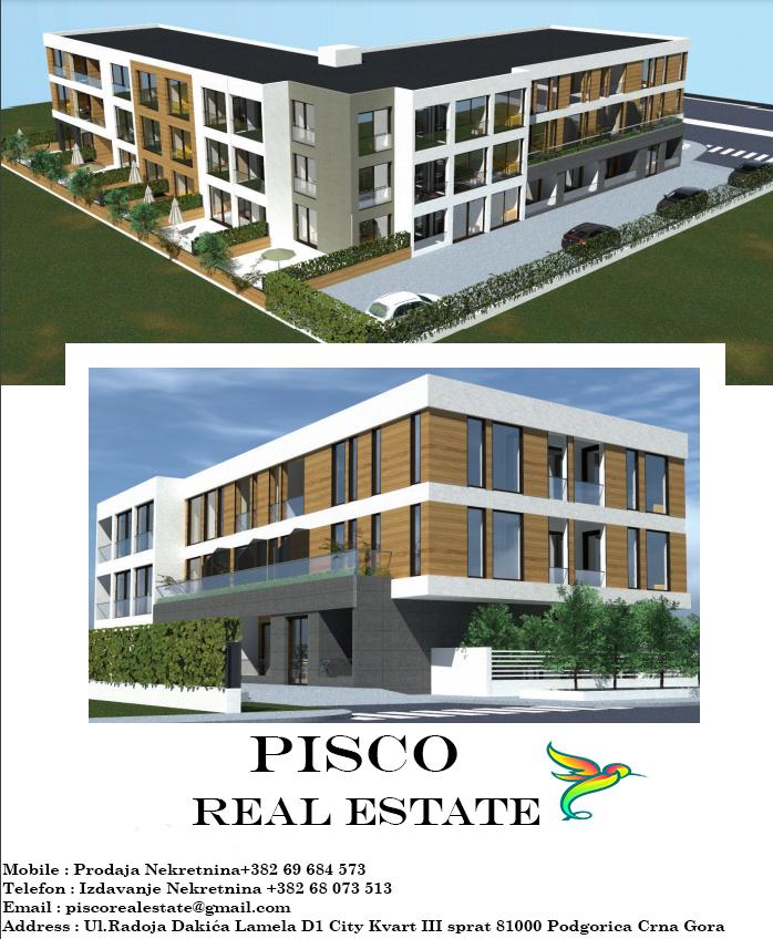 Lux dvosoban stan za prodaju u Tološima 61m2 | Podgorica