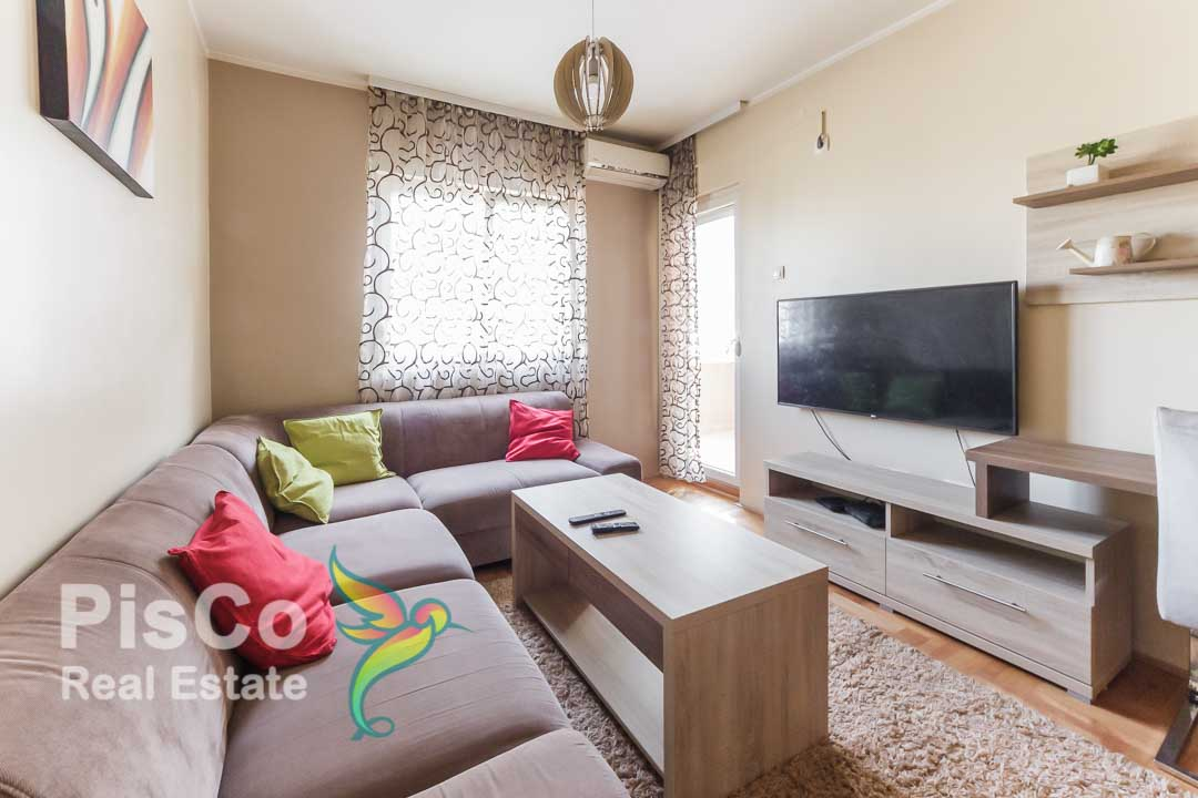 Nicely furnished one bedroom apartment for rent on Tuški put Podgorica