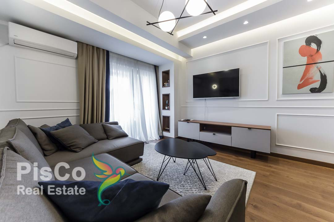 A two-bedroom lux apartment is rented at Vezier's Bridge